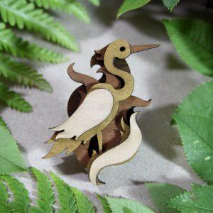 Heron brooch