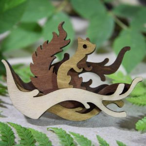 Squirrell brooch