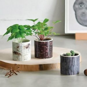 Stump garden pots