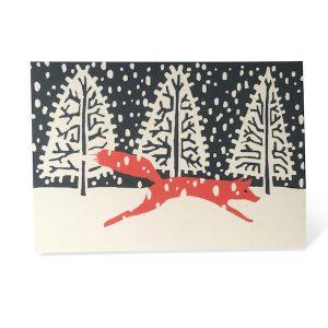 Fox in winter card