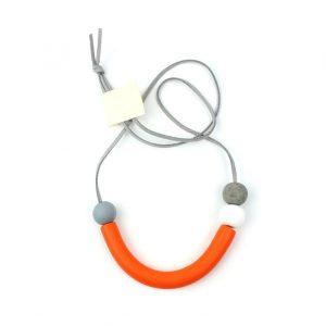 Orange curve necklace
