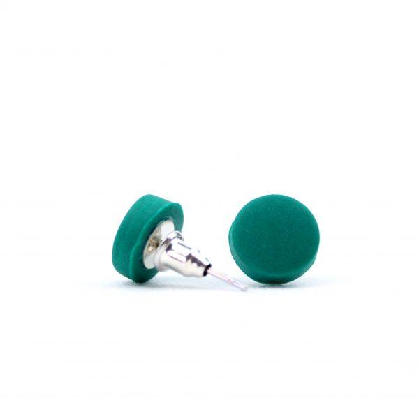 True green dot studs