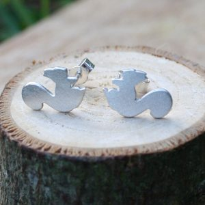 silver squirrel studs