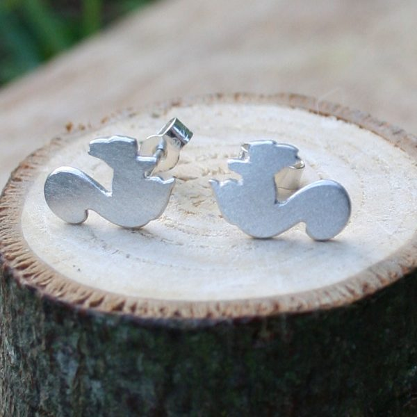 silver squirrel studs