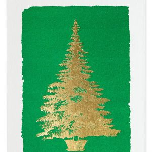 tree on green card pack