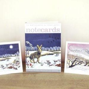 winter hares notecards