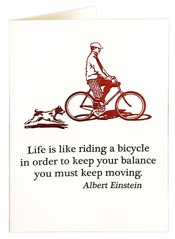 Bicycle Einstein card