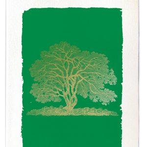 Tree gold card